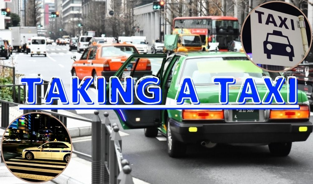 Taking a taxi in Tokyo