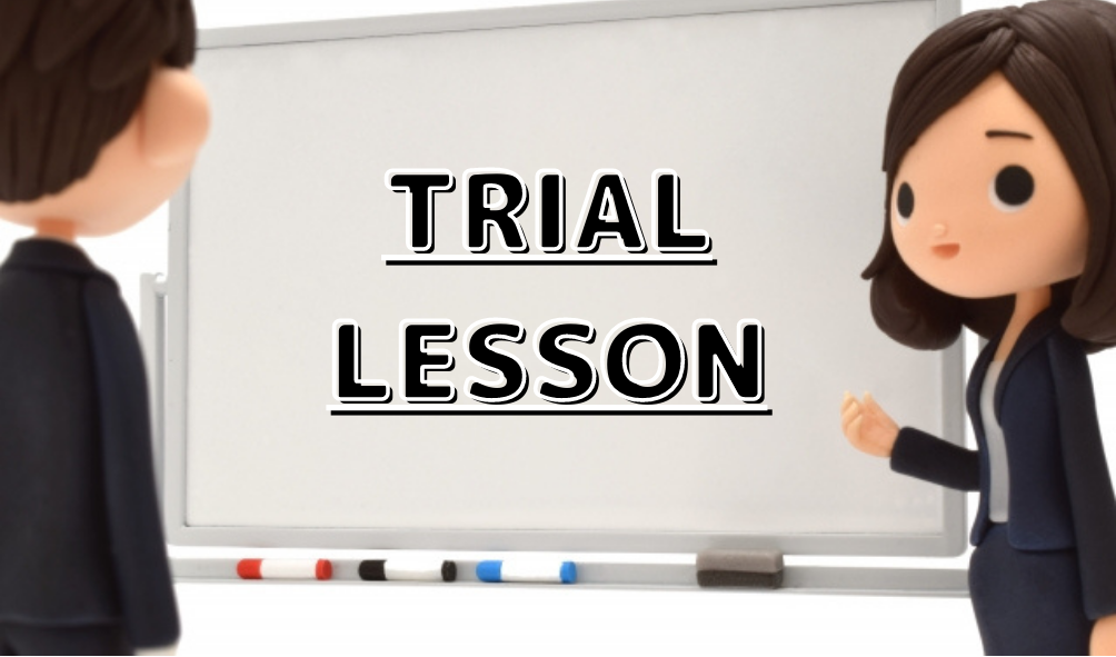 If you are interested in Japanese online lesson, please take trial lesson first!